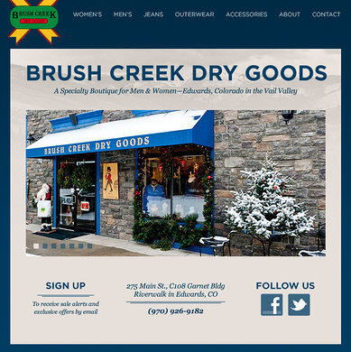 Brush Creek Dry Goods home page