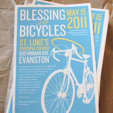 Blessing of the Bicycles 2011 posters