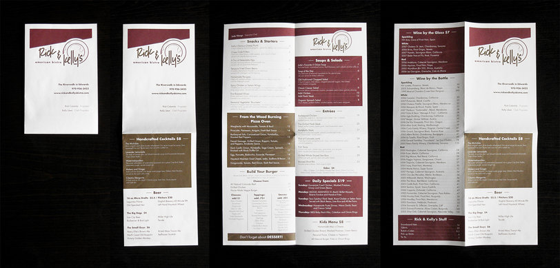 Anatomy of a quarter-fold menu