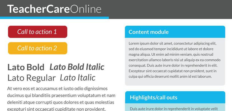 TeacherCare Online styletile